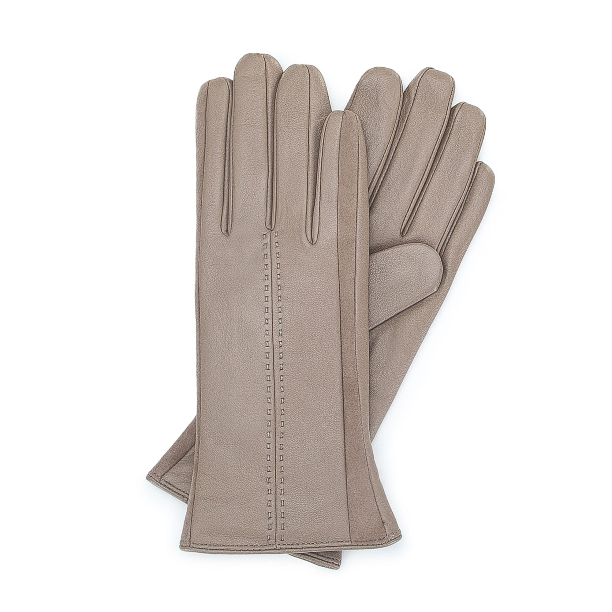 3103da3119b6bd Wärmende Damenhandschuhe aus echtem Leder WITTCHEN | 39-6-559 | WITTCHEN