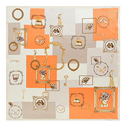 Damenschal, beige-orange, 90-7D-S33-X2, Bild 1