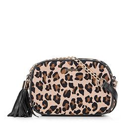 Handtasche, Umhängetasche, beige-schwarz, 89-4Y-301-X1, Bild 1