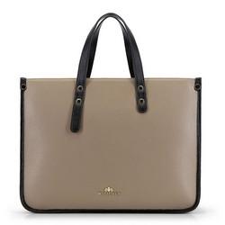 Laptoptasche, beige-schwarz, 90-4E-355-9, Bild 1