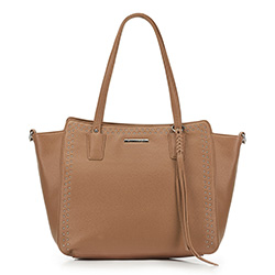 Shopper-Tasche, beige, 88-4Y-400-8, Bild 1