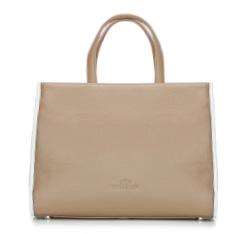 Damentasche, beige-weiß, 86-4E-202-9, Bild 1