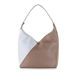 Damentasche, beige-weiß, 86-4E-203-9, Bild 1