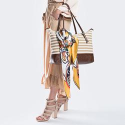 Damentasche, beige-weiß, 86-4Y-422-X01, Bild 1