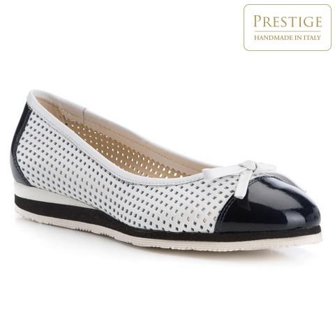 Обувь женская, бело-черный, 84-D-107-0-35, Фотография 1