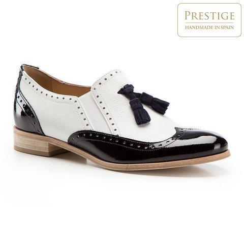 Обувь женская, бело-черный, 86-D-107-0-38_5, Фотография 1