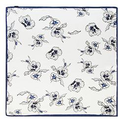 Женский шейный платок, бело - голубой, 90-7D-S14-X11, Фотография 1