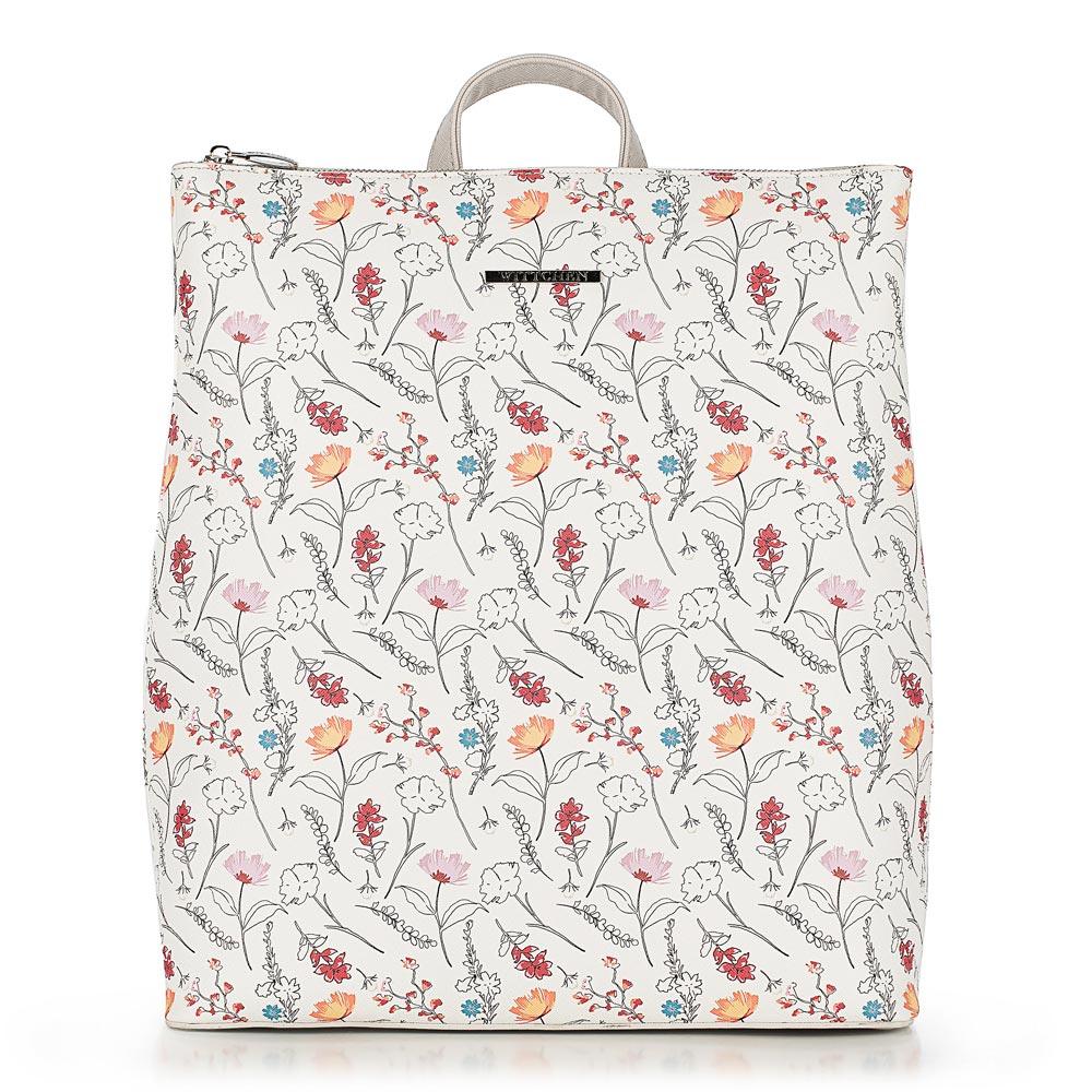 Рюкзак женский, бело - красный, 90-4Y-700-X1, Фотография 1