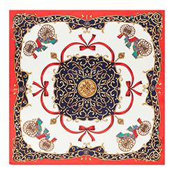 Женский шейный платок, бело - красный, 90-7D-S14-X20, Фотография 1