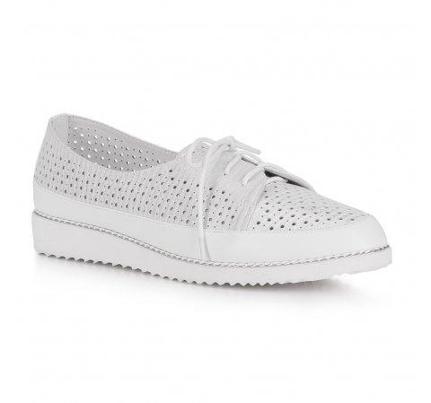 Обувь женская, бело - серебряный, 88-D-950-P-41, Фотография 1