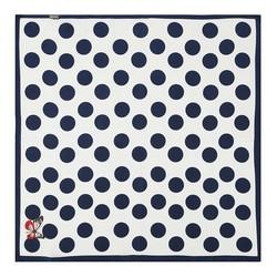Женский шейный платок, бело-синий, 90-7D-S14-X16, Фотография 1