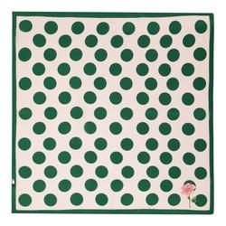 Женский шейный платок, бело - зеленый, 90-7D-S14-X17, Фотография 1