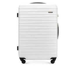 Большой чемодан, белый, 56-3A-313-89, Фотография 1