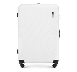 Большой чемодан, белый, 56-3A-573-00, Фотография 1