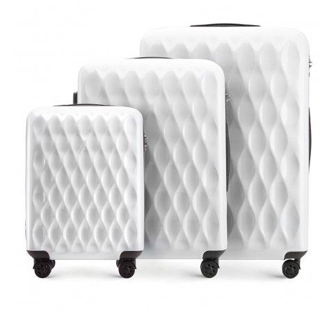 Комплект чемоданов, белый, 56-3H-55S-90, Фотография 1