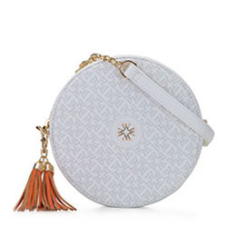 Круглая сумка через плечо-ограниченная серия, белый, 92-4Y-584-0, Фотография 1