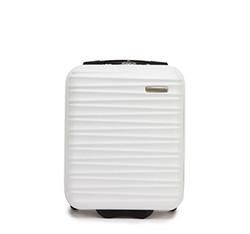 Чемодан ручная кладь из ABS ребристый, белый, 56-3A-315-89, Фотография 1