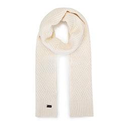 Женский шарф в ромбы, белый с оттенком, 93-7F-002-0, Фотография 1