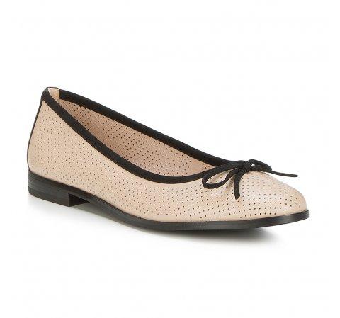 Обувь женская, бежево- черный, 88-D-959-9-35, Фотография 1