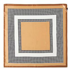 Женский шейный платок, бежево- черный, 90-7D-S14-X2, Фотография 1