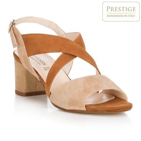 Обувь женская, бежево-коричневый, 88-D-403-7-39, Фотография 1