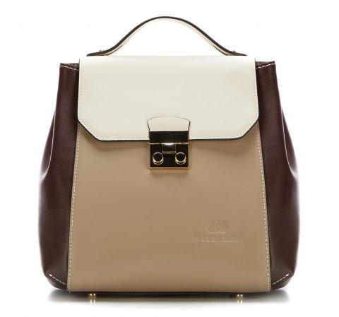 Рюкзак женский, бежево-коричневый, 87-4E-227-X2, Фотография 1