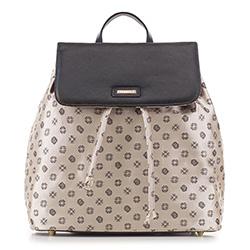 Рюкзак женский, бежево-коричневый, 88-4E-924-9, Фотография 1