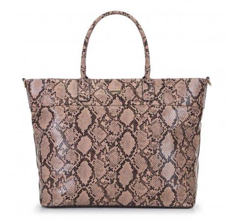 Женская сумка-шоппер, бежево-коричневый, 91-4Y-609-8, Фотография 1