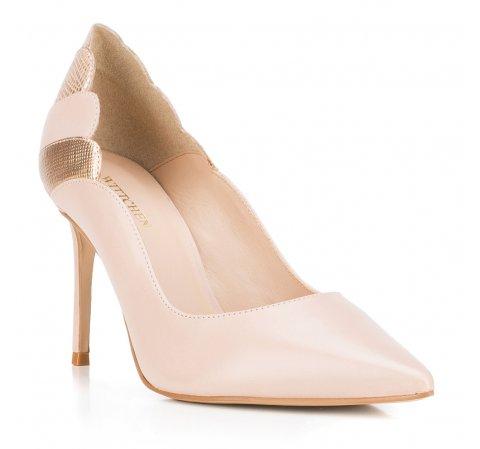Обувь женская, бежево - золотой, 88-D-252-9-36, Фотография 1