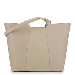 Большая трапециевидная сумка-шоппер, бежевый, 29-4Y-004-9E, Фотография 1