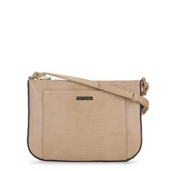 Маленькая женская сумка через плечо с животным принтом, бежевый, 92-4Y-229-09, Фотография 1