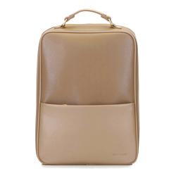 Мужской рюкзак для ноутбука 13/14 с гладким карманом, бежевый - серебристый, 92-3P-501-5, Фотография 1