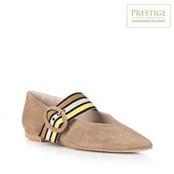Обувь женская, бежевый - серебристый, 88-D-153-9-39, Фотография 1
