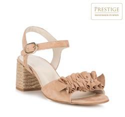 Обувь женская, бежевый - серебристый, 88-D-450-9-41, Фотография 1
