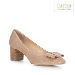 Обувь женская, бежевый - серебристый, 90-D-107-9-37, Фотография 1