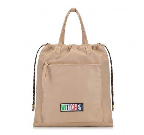 Рюкзак женский, бежевый, 90-4Y-301-1, Фотография 1