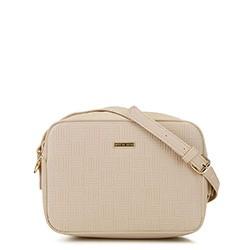 Женская сумка-коробочка через плечо., бежевый, 29-4Y-006-9E, Фотография 1