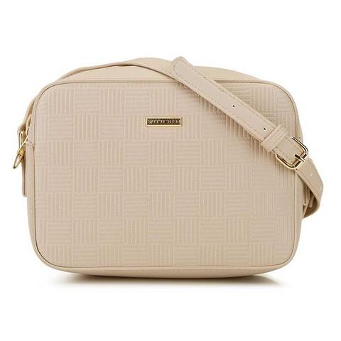 Женская сумка-коробочка через плечо., бежевый, 29-4Y-006-PE, Фотография 1