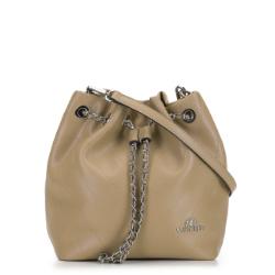 Женская кожаная сумка, бежевый, 91-4E-607-9, Фотография 1