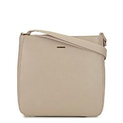 Женская  трапециевидная сумка через плечо, бежевый, 29-4Y-005-9E, Фотография 1
