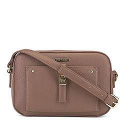 Женская сумка через плечо на тонком ремешке, бежевый, 91-4Y-401-P, Фотография 1