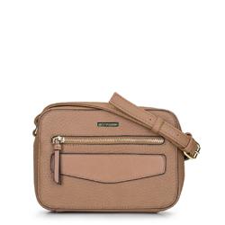 Женская сумка через плечо с клапаном, бежевый, 92-4Y-245-5, Фотография 1