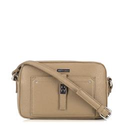 Женская сумка через плечо с передним карманом, бежевый, 29-4Y-001-9, Фотография 1