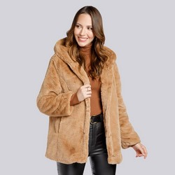 Dámská bunda, béžová, 93-9W-100-5-M, Obrázek 1