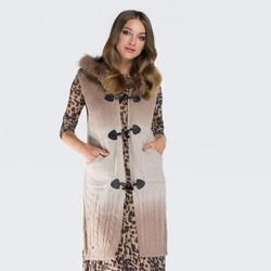 Dámská vesta, béžová, 87-9F-036-0, Obrázek 1