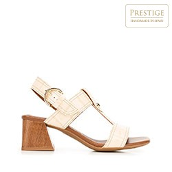 Dámské boty, béžová - stříbrná, 92-D-165-9-41, Obrázek 1