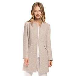 Dámský kabát, béžová, 86-9W-105-P-S, Obrázek 1