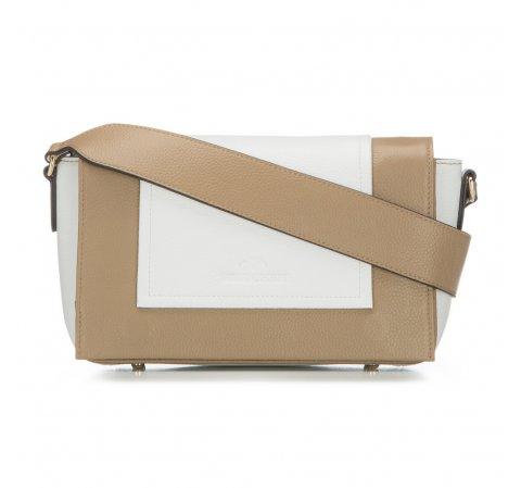 Dámská kabelka, béžovo-bílá, 86-4E-200-9, Obrázek 1