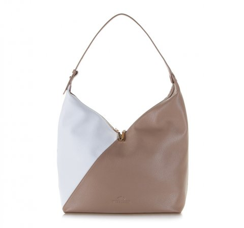 Dámská kabelka, béžovo-bílá, 86-4E-203-9, Obrázek 1