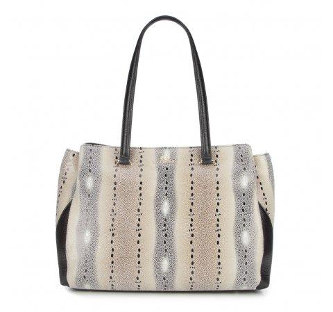 Dámská kabelka, béžovo-černá, 86-4E-362-X01, Obrázek 1